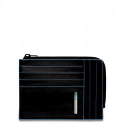 Portafoglio portamonete, documenti e carte di credito Blue Square colore nero - PIQUADRO PU1243B2/N