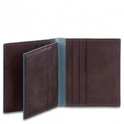 Porta carte di credito Blue Square colore mogano - Piquadro PP1518B2/MO