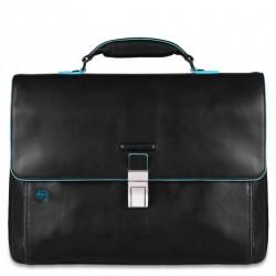 Cartella porta PC/iPad®/iPad®Air Blue Square colore nero - PIQUADRO CA3111B2/N