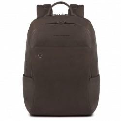 Zaino porta PC/iPad®Air/Pro 9 Black Square colore marrone - PIQUADRO CA3214B3/TM