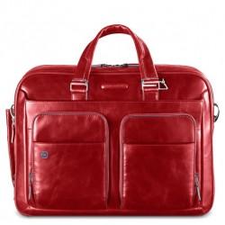 Borsa porta PC/iPad/iPad Air a 2 manici con tasche frontali  Blue Square colore rosso - PIQUADRO CA2849B2/R