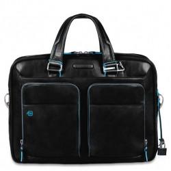 Borsa porta PC/iPad/iPad Air a 2 manici con tasche frontali  Blue Square colore nero - PIQUADRO CA2849B2/N
