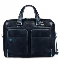 Borsa porta PC/iPad/iPad Air a 2 manici con tasche frontali  Blue Square colore blu - PIQUADRO CA2849B2/BLU2