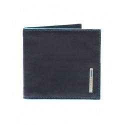 Portafogli con molla porta dollari in pelle Blue Square colore blu - PIQUADRO PU1666B2/BLU2