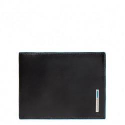 Portafoglio uomo con portamonete Blue Square colore nero - Piquadro PU257B2/N