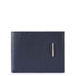 Portafoglio uomo con porta documenti, porta monete e porta carte di credito Modus colore blu - PIQUADRO PU1392MO/BLU