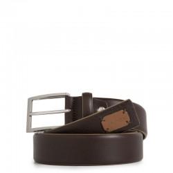 Cintura uomo con fibbia ad ardiglione, interno e bordi a contrasto colore marrone - PIQUADRO CU3898C52/M