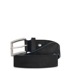 Cintura uomo in nabuk con fibbia ad ardiglione colore nero - PIQUADRO CU3897C51/N