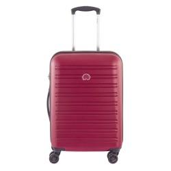 SEGUR Valigia trolley da cabina 4 doppie ruote 55 cm, colore rosso - DELSEY 00203880104