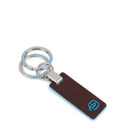 Portachiavi con inserto in pelle Blue Square colore mogano - PIQUADRO PC3755B2/MO
