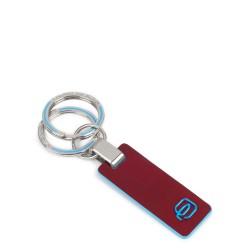Portachiavi con inserto in pelle Blue Square colore rosso - PIQUADRO PC3755B2/R