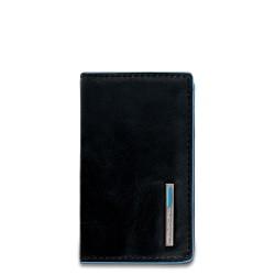 Porta biglietti da visita rigido Blue Square colore nero - PIQUADRO PP1263B2/N
