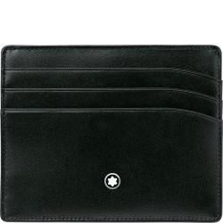 Porta carte di credito 6 scomparti in vitello pieno fiore nero - Montblanc 106653