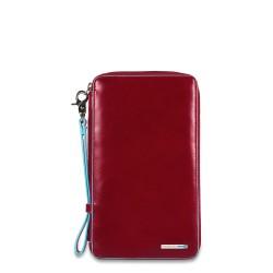 Porta documenti da viaggio con porta carte di credito Blue Square colore rosso - Piquadro PP3246B2/R