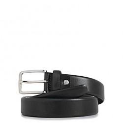 Cintura uomo in pelle con fibbia ad ardiglione colore nero - PIQUADRO CU3902C56/N