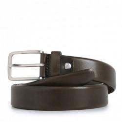 Cintura uomo in pelle con fibbia ad ardiglione colore tortora - PIQUADRO CU3902C56/TO
