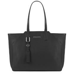 Shopping bag grande porta iPad®Air/Pro 9,7 con porta computer estraibile Muse colore nero - PIQUADRO BD4323MU/N