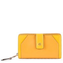 Portafoglio donna con portamonete e porta carte di credito Muse colore giallo - PIQUADRO PD1354MUSR/G
