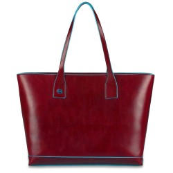 Shopping bag orizzontale con compartimento porta iPad®mini Blue Square colore rosso - Piquadro BD3336B2/R