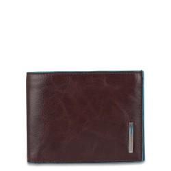 Portafoglio uomo con portamonete Blue Square colore mogano - Piquadro PU257B2/MO