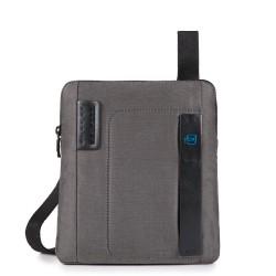 Borsello organizzato con scomparto porta iPad Air/Air2 P16 colore grigio classy - PIQUADRO CA1358P16/CLASSY