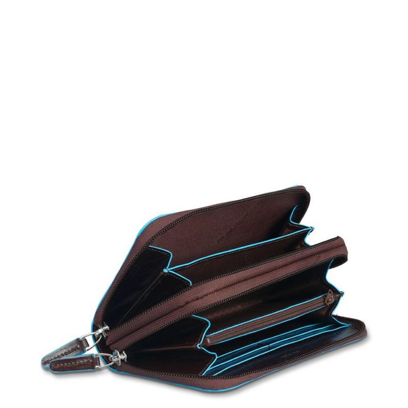 comprare popolare eee13 d0fea Portafoglio donna doppio scomparto Blue Square - PIQUADRO PD3413B2/N