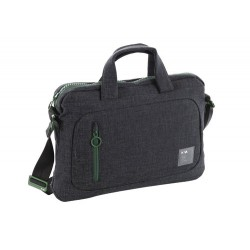 DOT_COM 2.0 CARTELLA PORTADOCUMENTI, 2 MANICI, PORTA PC E IPAD COLORE NERO/VERDE - NAVA DESIGN D2019NV