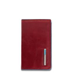 Porta biglietti da visita rigido Blue Square colore rosso - PIQUADRO PP1263B2/R
