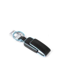 Portachiavi in pelle con chiavetta USB da 16GB Blue Square colore nero - PIQUADRO AC4246B2/N