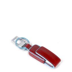 Portachiavi in pelle con chiavetta USB da 16GB Blue Square colore rosso - PIQUADRO AC4246B2/R