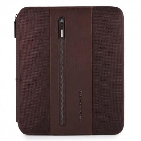 Portablocco con scomparto porta iPad®Air/Pro 9,7 e porta penne Brief colore testa di moro - PIQUADRO PB4454BR/TM