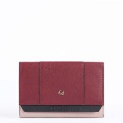 Portafoglio donna grande Circle colore rosso mattone - PIQUADRO PD4152W92R/R