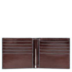 Portafogli con molla porta dollari in pelle Blue Square colore mogano - PIQUADRO PU1666B2/MO