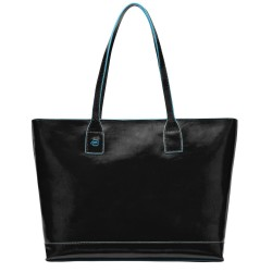 Shopping bag orizzontale con compartimento porta iPad®mini Blue Square colore nero - Piquadro BD3336B2/N