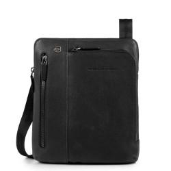 Borsello porta iPad®Air/Pro 9,7 con doppia tasca frontale chiusa da zip Black Square colore nero - PIQUADRO CA1816B3/N