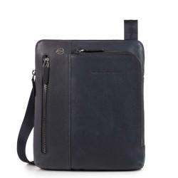 Borsello porta iPad®Air/Pro 9,7 con doppia tasca frontale chiusa da zip Black Square colore blu - PIQUADRO CA1816B3/BLU