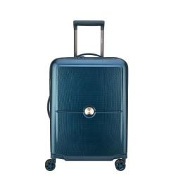 TURENNE Valigia trolley da cabina a 4 doppie ruote slim 55 cm colore blu notte - DELSEY 00162180302