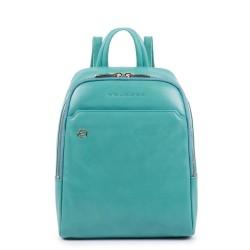 Zaino piccolo in pelle Blue Square colore verde acqua - PIQUADRO CA4233B2/AM2