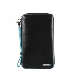 Porta documenti da viaggio con porta carte di credito Blue Square colore nero - Piquadro PP3246B2/N