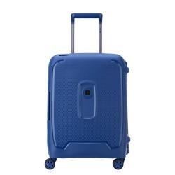 Valigia trolley cabina 4 doppie ruote 55 cm Moncey colore blu - DELSEY 00384480302
