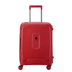 Valigia trolley cabina 4 doppie ruote 55 cm Moncey colore rosso - DELSEY 00384480314