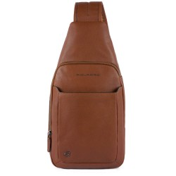 Monospalla porta iPad® Black Square colore cuoio tabacco - PIQUADRO CA4827B3/CU
