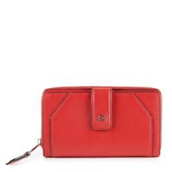 Portafoglio donna con portamonete e porta carte di credito Muse colore rosso - PIQUADRO PD1354MUSR/R
