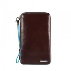 Porta documenti da viaggio con porta carte di credito Blue Square colore mogano - Piquadro PP3246B2/MO