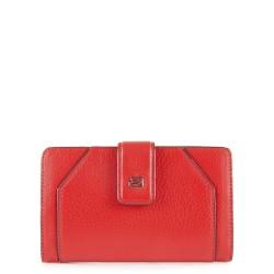 Portafoglio donna con portamonete e porta carte di credito Muse colore rosso - PIQUADRO PD1353MUR/R