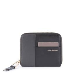 Portafoglio donna con porta carte di credito e protezione anti-frode RFID Echo colore nero - PIQUADRO PD4850W100R/N