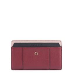 Portafoglio donna con portamonete, porta carte di credito e protezione anti-frode RFID Circle cuoio - PIQUADRO PD1353W92R/R