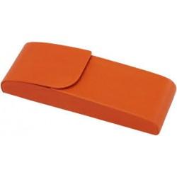 Portapenne doppio in pelle rigido colore arancione GIORGIO FEDON
