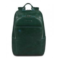Zaino porta PC/iPad®/iPad®mini imbottito Blue Square colore verde scuro - PIQUADRO CA3214B2/VE