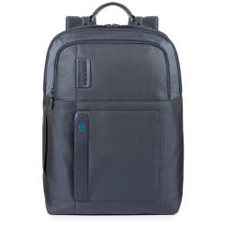 Zaino porta computer e porta iPad® con porta bottiglia o porta ombrello P16 carta da zucchero - PIQUADRO CA4174P16/CHEVBLU